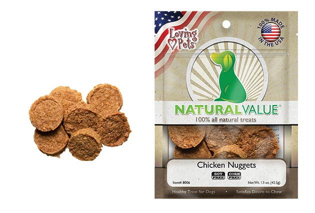 Loving Pets Natural Value Chicken Nuggets Dog Treats, 1.5-oz