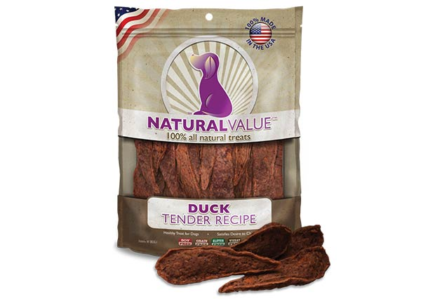 Loving Pets Natural Value Duck Tender Recipe Dog Treats, 14-oz