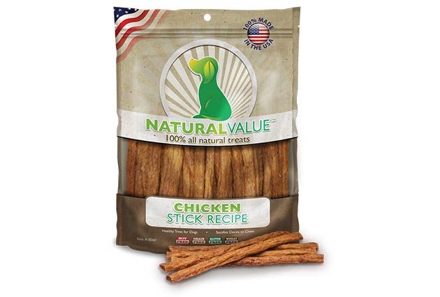 Loving Pets Natural Value Chicken Stick Recipe Dog Treats, 14-oz