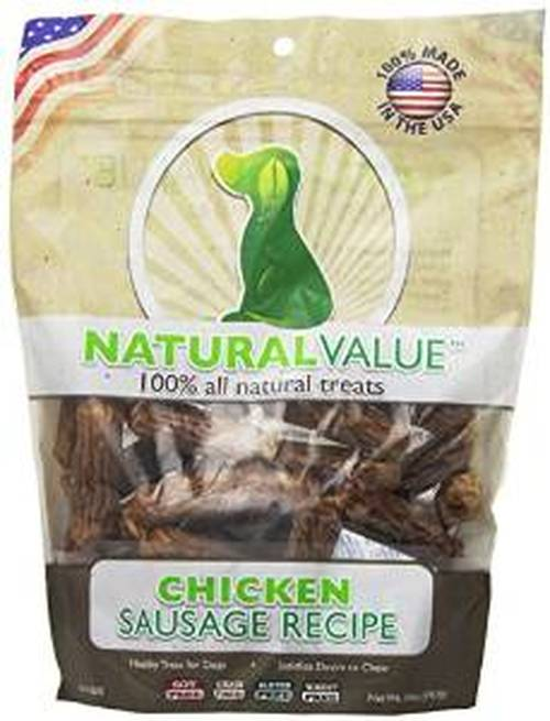Loving Pets Natural Value Chicken Sausage Recipe Dog Treats, 14-oz