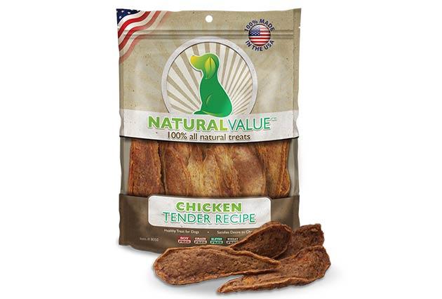 Loving Pets Natural Value Chicken Tender Recipe Dog Treats, 14-oz