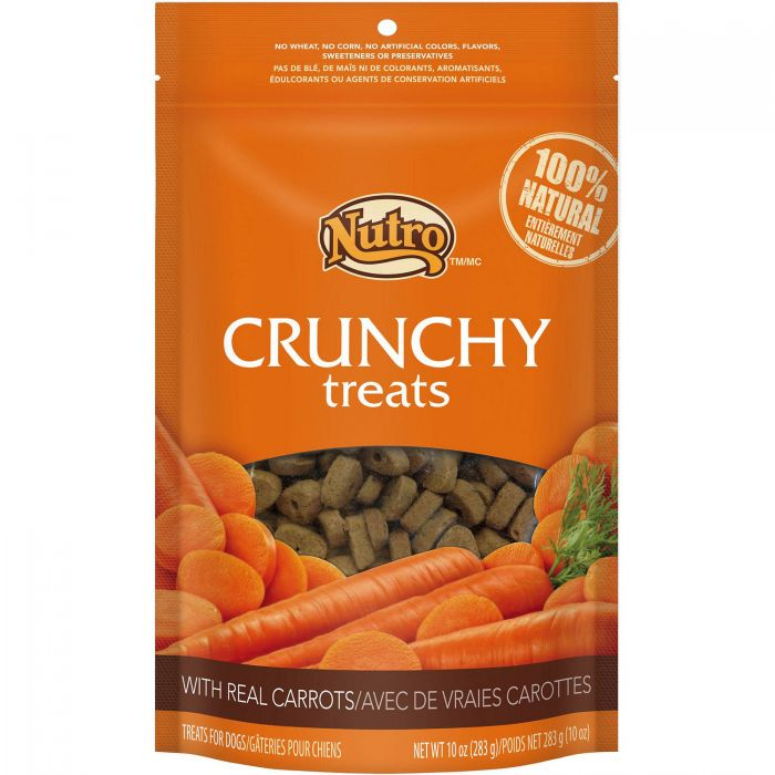 Nutro Crunchy with Real Carrot Dog Treats, 10-oz