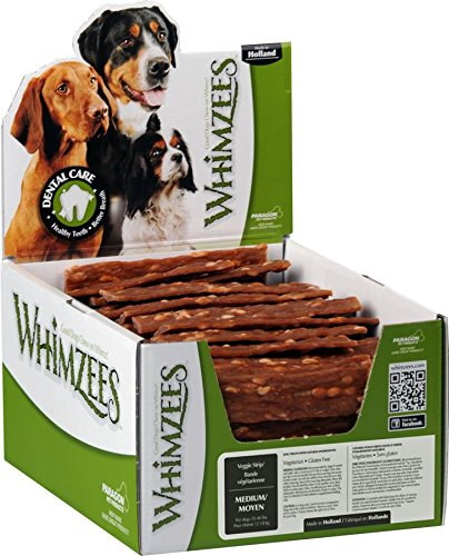 WHIMZEES Veggie Strip Dental Dog Treats, Medium