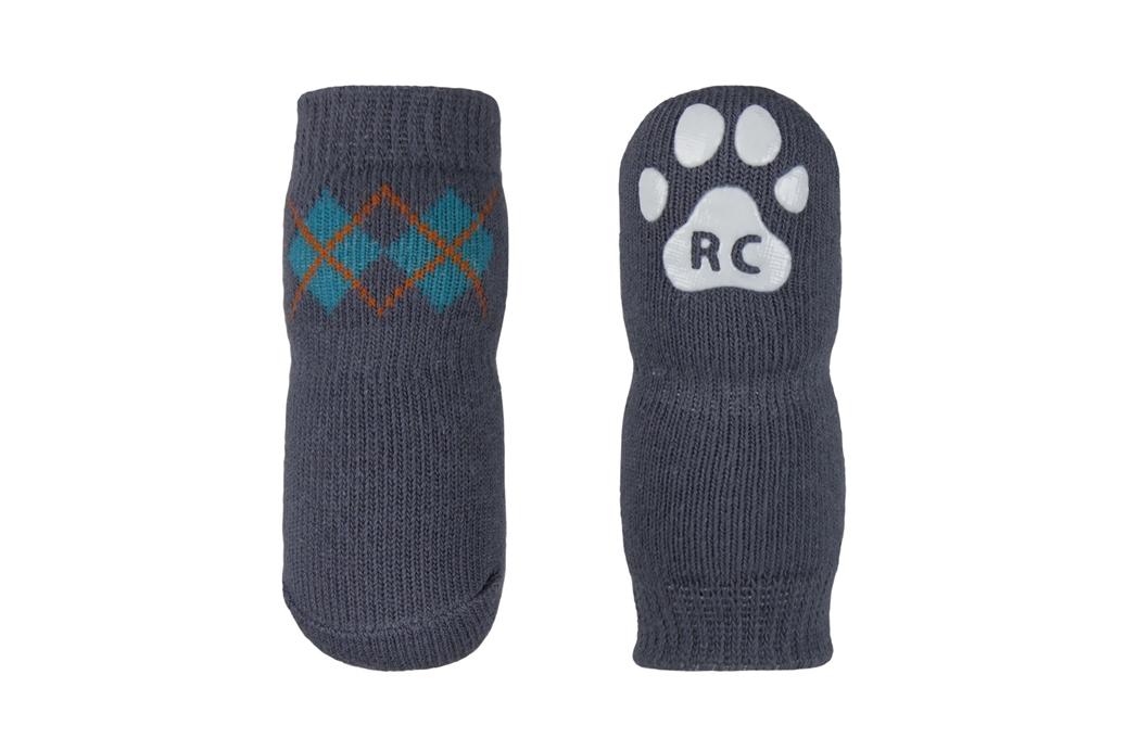 RC Pet Products Pawks Slate Argyle Dog Socks