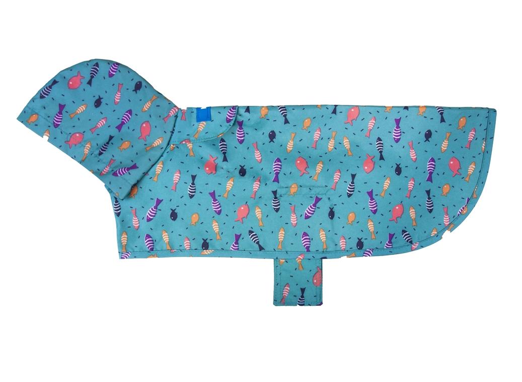 RC Pet Products Packable Rain Shoal Dog Poncho