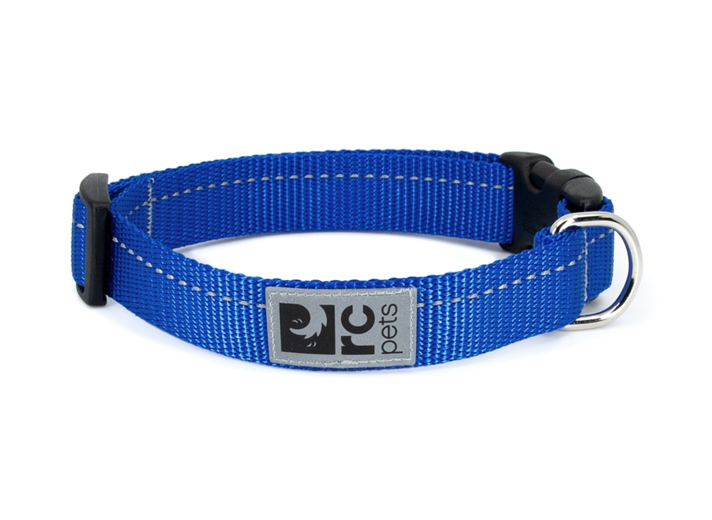 RC Pet Products Primary Clip Royal Blue Dog Collar, X-Small
