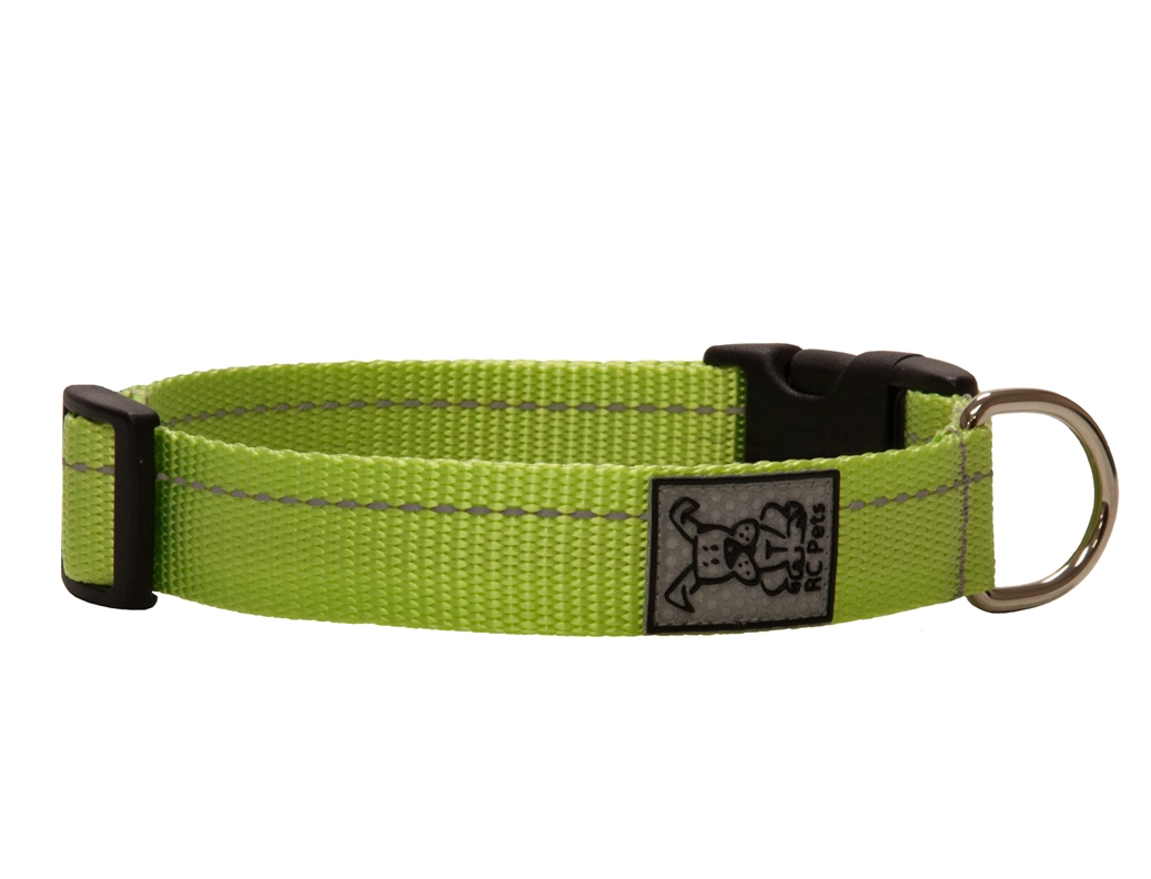 RC Pet Products Primary Clip Lime Dog Collar