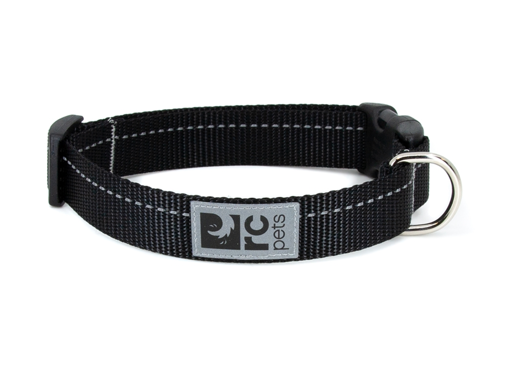 RC Pet Products Primary Clip Black Dog Collar