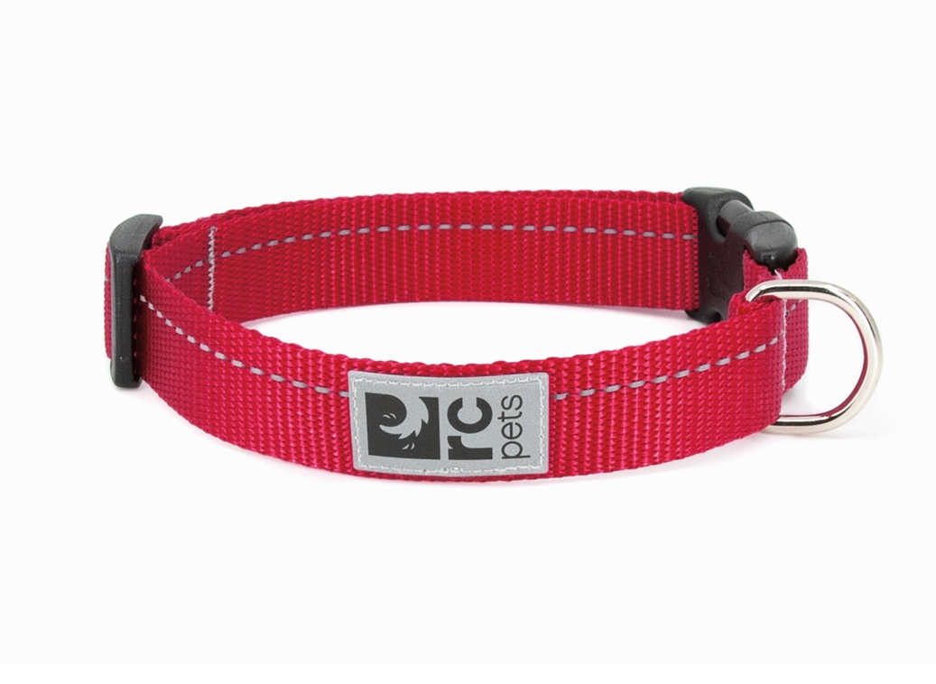 RC Pet Products Primary Clip Red Dog Collar, X-Small
