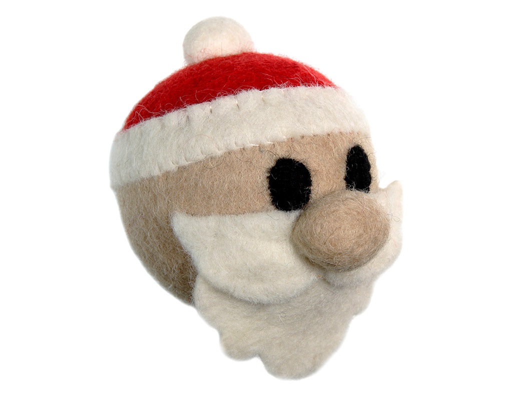 RC Pet Products Holiday Santa Dog Toy