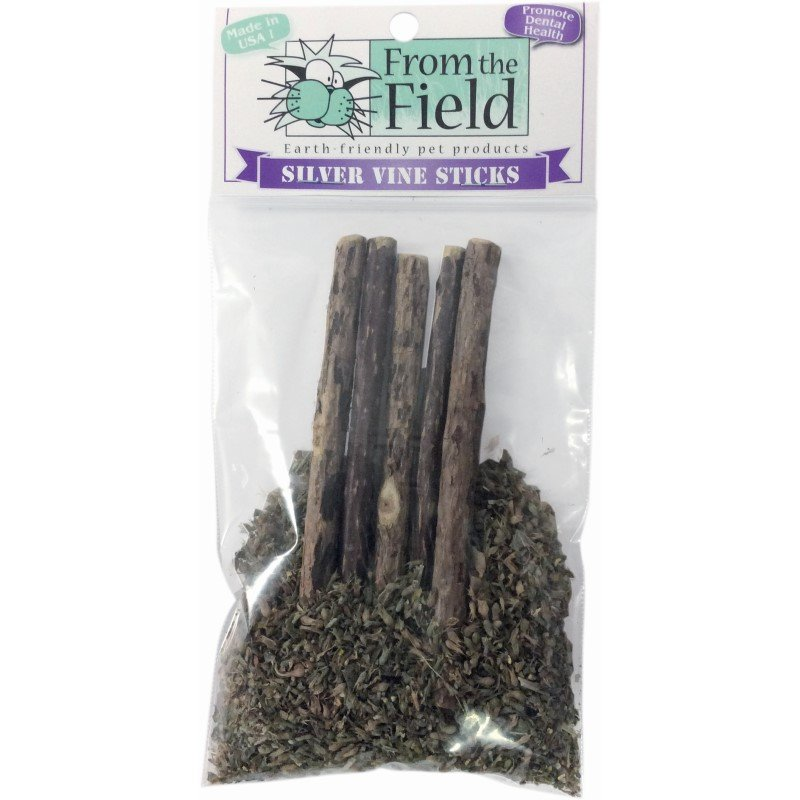 From The Field Silver Vine Sticks Cat Catnip