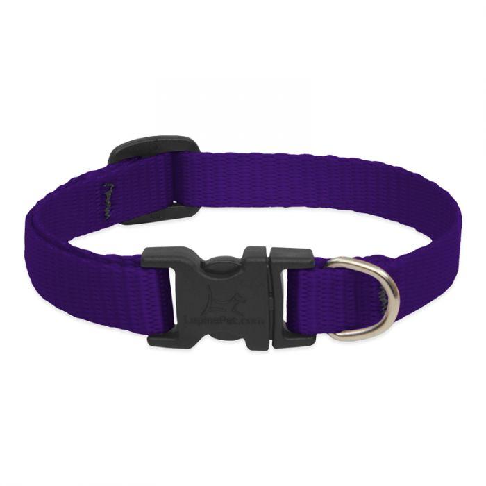 Lupine Adjustable Purple Dog Collar, 13-22-in