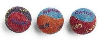 Ethical Pet Spot Burlap Balls Cat Toys, 3-pk