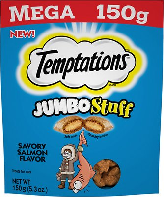 Temptations Jumbo Stuff Savory Salmon Flavor Cat Treats