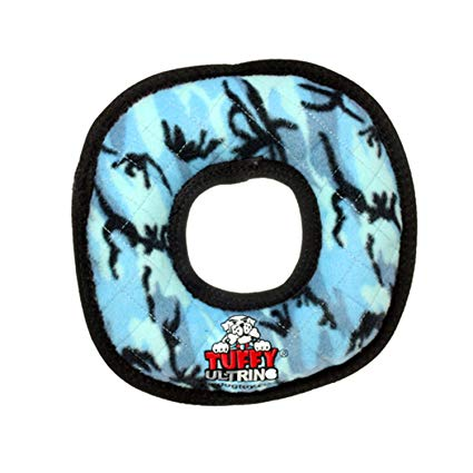 Tuffy's Ultimate Ring Dog Toy, Camo Blue