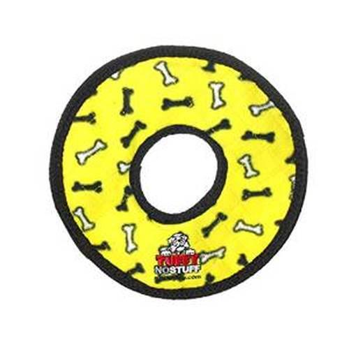 Tuffy's No Stuff Ultimate Ring Dog Toy, Yellow Bone