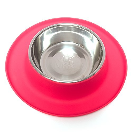 Messy Mutts Silicone Cat Feeder, Red, Medium