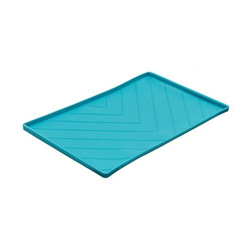 Messy Mutts Silicone Mat with Metal Rods, Blue