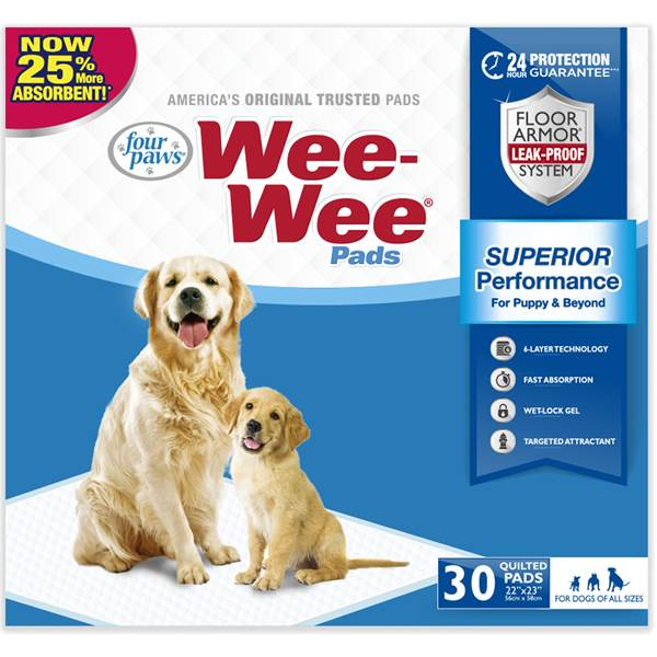 Wee-Wee Pet Training and Puppy Pads, 30-count