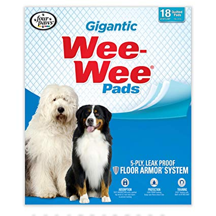 Wee-Wee Gigantic Dog Pads, 18-count