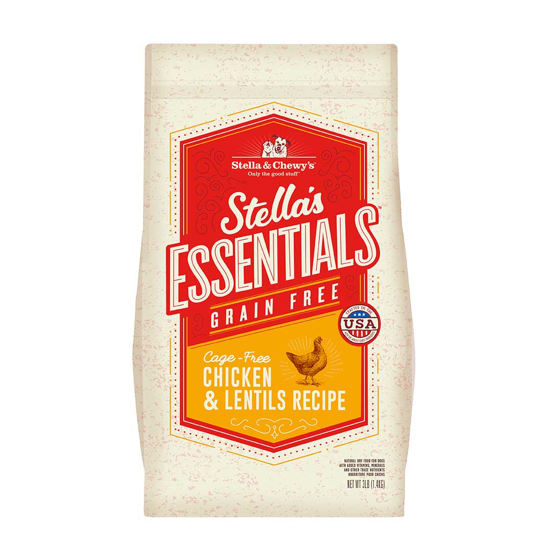 Stella & Chewy's Essentials Grain-Free Chicken & Lentils Dry Dog Food, 25-lb