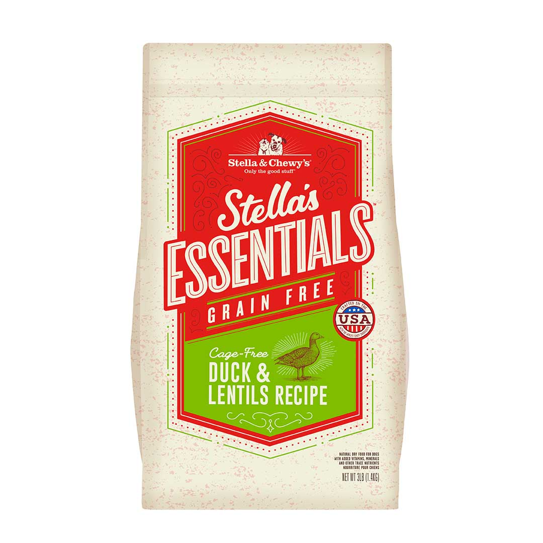 Stella & Chewy's Essentials Grain-Free Duck & Lentils Dry Dog Food, 25-lb