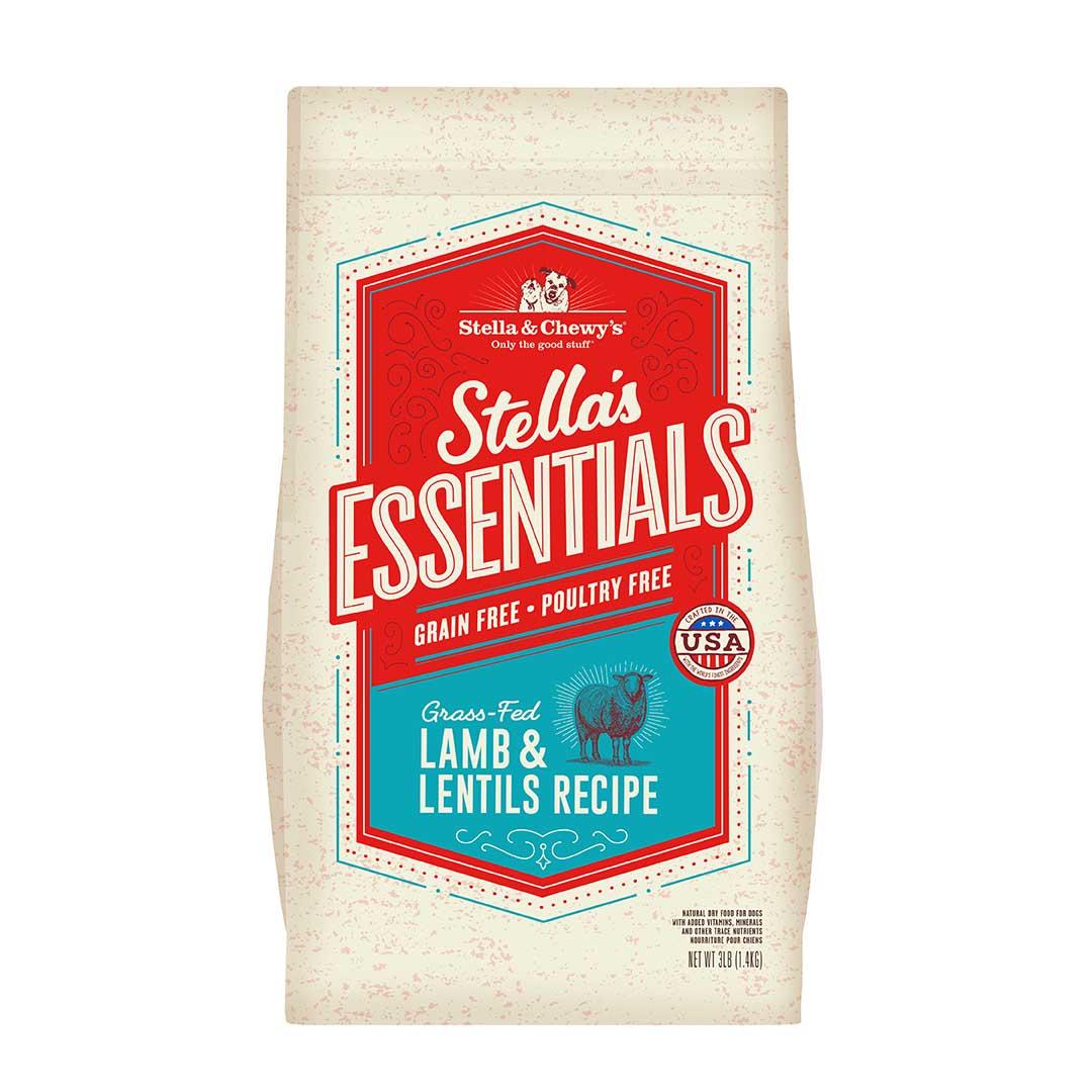 Stella & Chewy's Essentials Grain-Free Lamb & Lentils Dry Dog Food, 25-lb