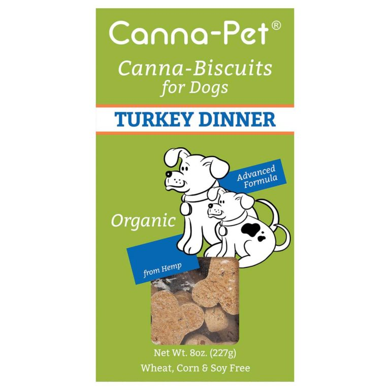 Canna-Pet Canna-Biscuits Advanced Formula Organic Turkey Dinner Dog Treats, 8-oz