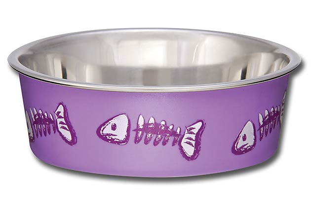 Loving Pets Bella Bowls Pet Bowl, Purple, Lilac, X-Small
