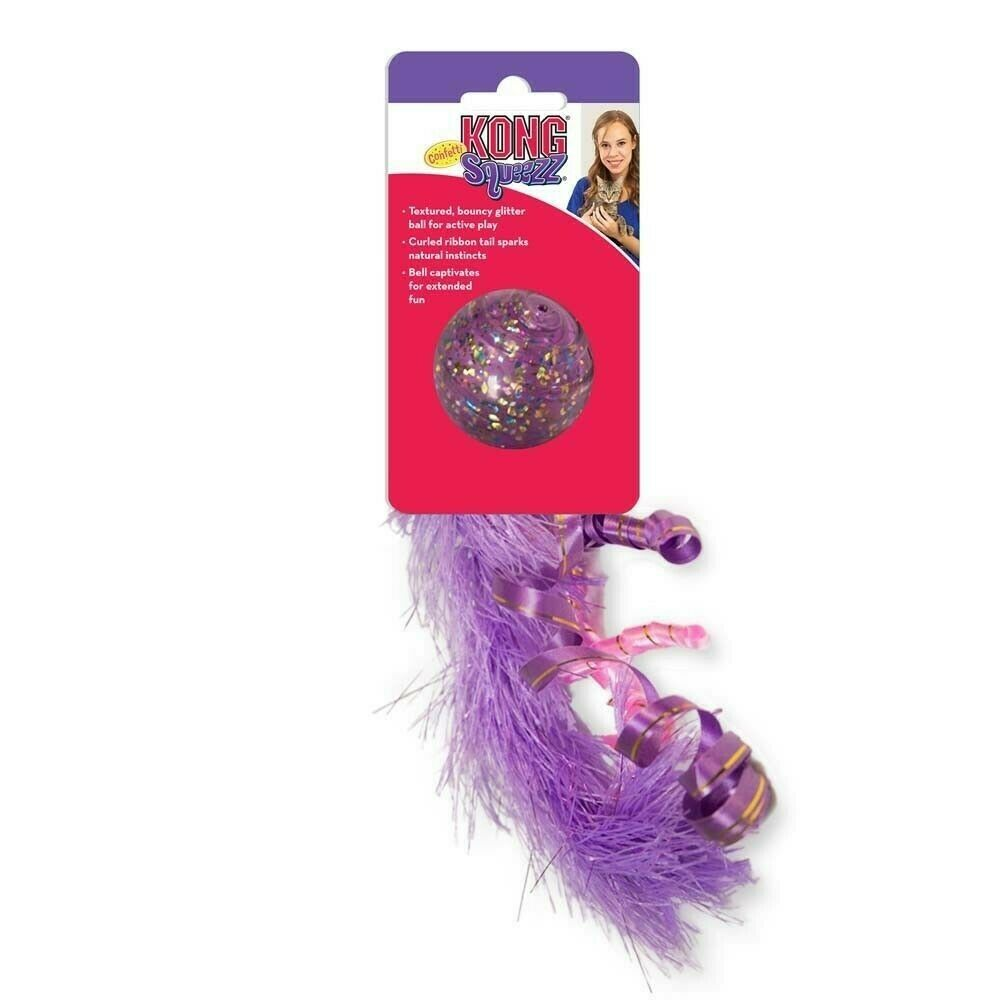 KONG Squeezz Cat Confetti Toy, Assorted Colors