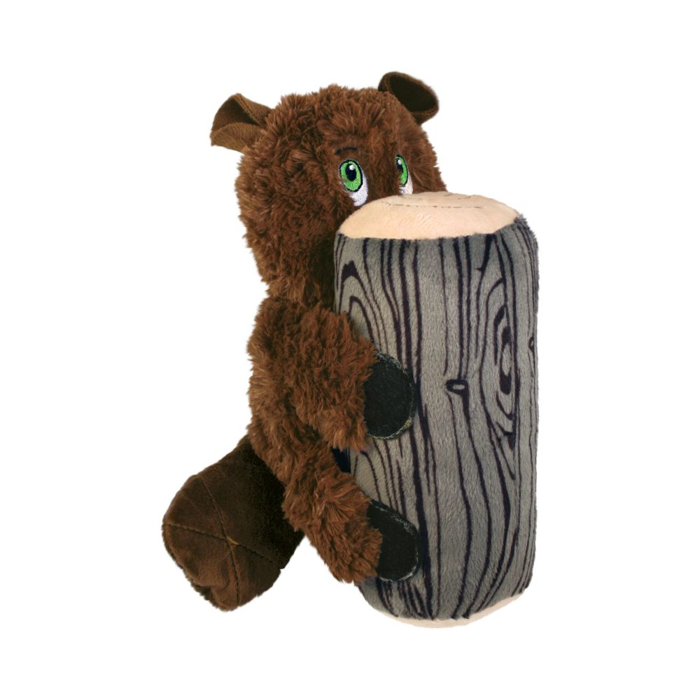 KONG Huggz Hiderz Raccoon Dog Toy, Small