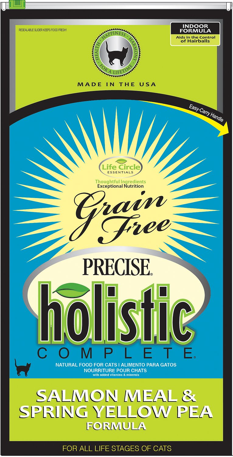 Precise Holistic Complete Salmon Meal & Spring Yellow Pea Grain-Free Dry Cat Food