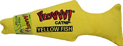 Yeowww! Catnip Fish Cat Toy, Yellow