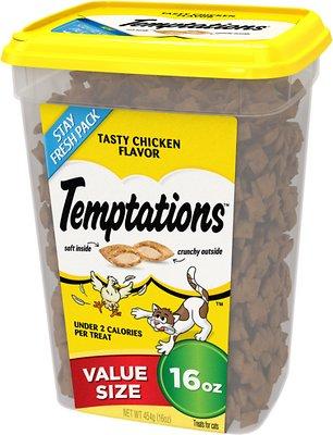 Temptations Tasty Chicken Flavor Cat Treats, 16-oz tub