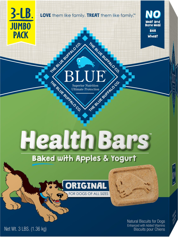 Blue Buffalo Health Bars Baked with Apples & Yogurt Dog Treats, 3-lb box