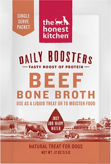 The Honest Kitchen Daily Boosters Beef Bone Broth Dog Treats, 0.12-oz
