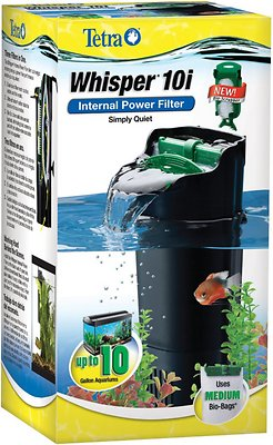 Tetra Whisper Internal Power Filter with BioScrubber for Aquariums, 3 - 10 gal