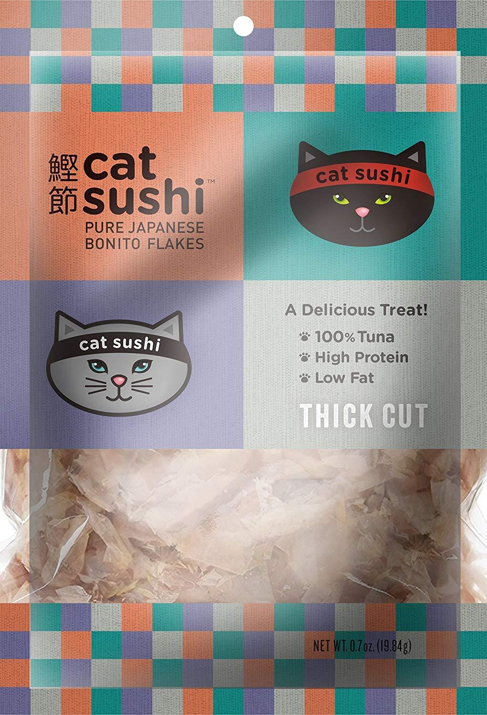 Presidio Cat Sushi Bonito Flakes Thick Cut Cat Treats, 0.5-oz