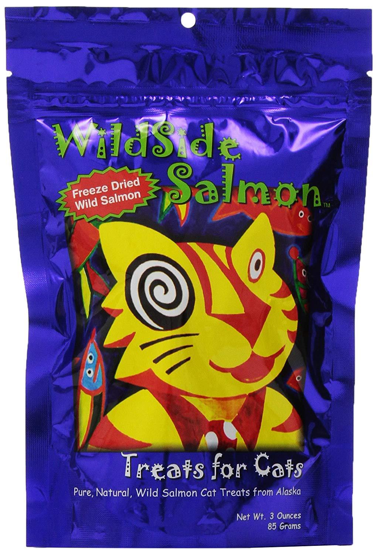 Wildside Salmon Wild Salmon Freeze-Dried Cat Treats, 3-oz Size: 3-oz