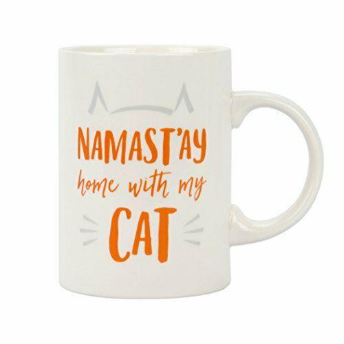 Pearhead Namast'ay Home with My Cat Mug