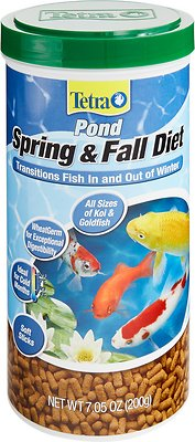 Tetra Pond Spring & Fall Diet Transitional Fish Food, 7.05-oz jar