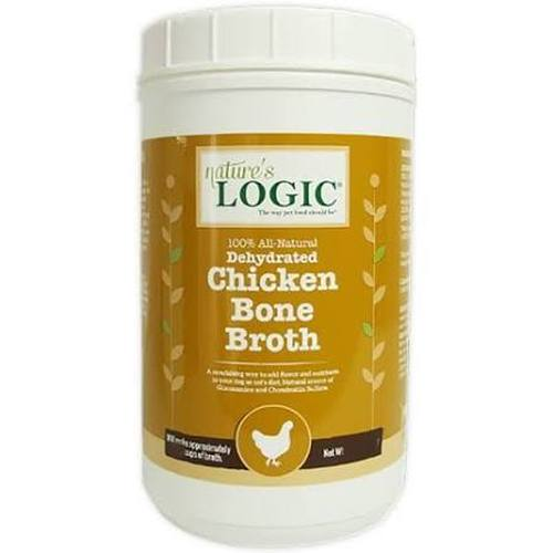 Nature's Logic Dehydrated Chicken Bone Broth Dog & Cat Supplement, 12-oz