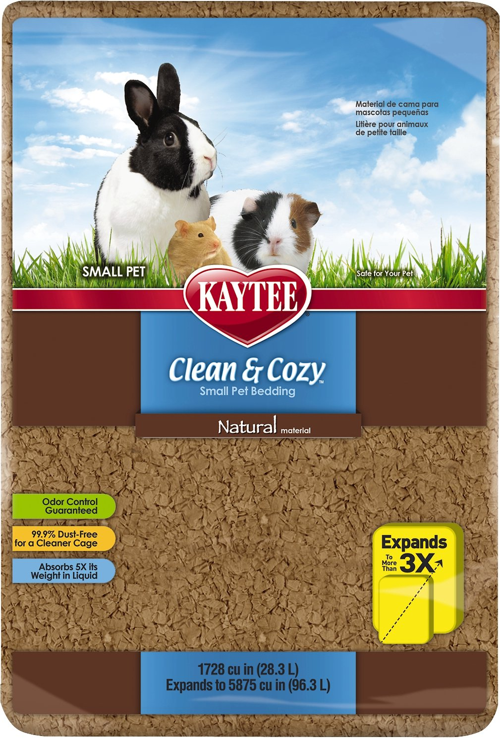 Kaytee Clean & Cozy Natural Small Animal Bedding, 24.6-L