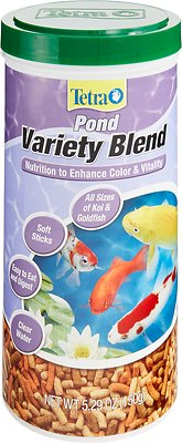 Tetra Pond Variety Blend Color & Vitality Enhancing Koi & Goldfish Fish Food, 5.29-oz jar