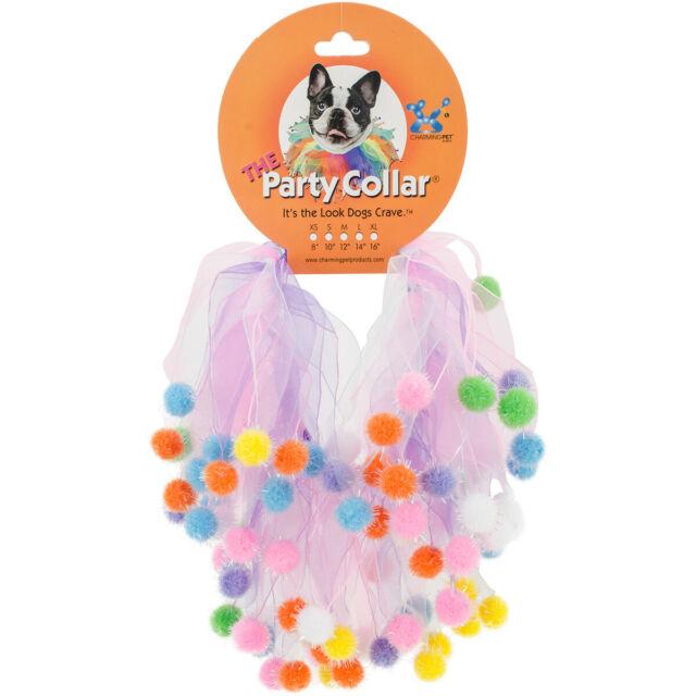 Charming Pet The Party Collar Birthday Pom Pom, X-Large