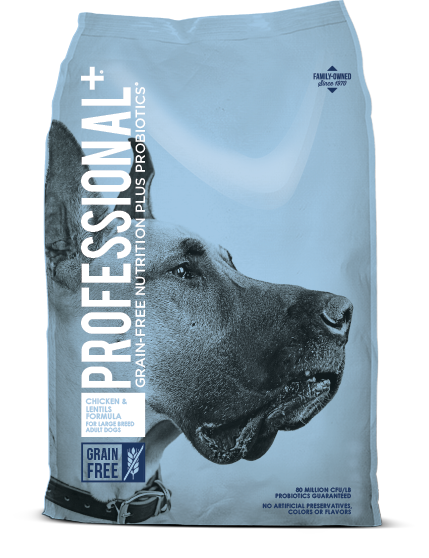 Diamond Professional+ Chicken & Lentils Formula Large Breed Adult Dry Dog Food, 28-lb