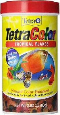 Tetra Color Tropical Flakes Fish Food, 2.82-oz jar