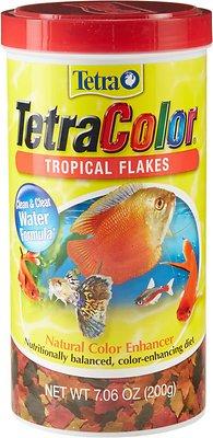 Tetra Color Tropical Flakes Fish Food, 7.06-oz jar