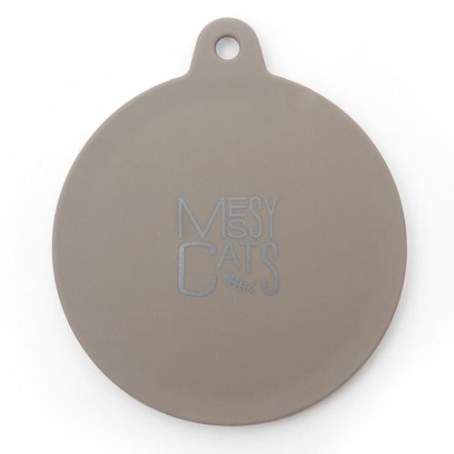 Messy Mutts Silicone Dog & Cat Can Cover, Grey