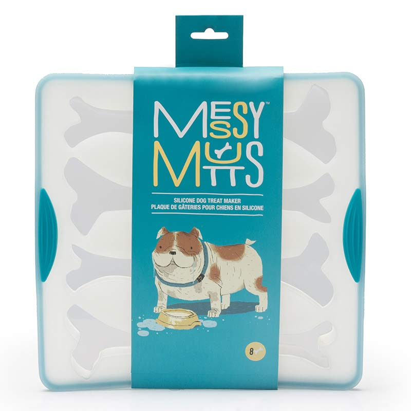 Messy Mutts Silicone Bake & Freeze Treat Maker, Small
